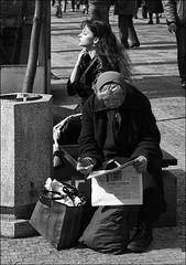 Times they are a-changin 3. (deb) Tags: voyage street new travel blackandwhite bw film monochrome prague noiretblanc streetphotography rue czechoslovakia poeple tchcoslovaquie