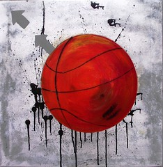 Basket (Birgit.Riemann) Tags: art basketball ball paint acrylic basket modernart kunst paintings canvas acryl malerei leinwand zeitgenössischekunst 2013 galarie acrylart birgitriemann