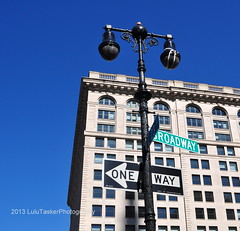 On Broadway (LuluTaskerPhotography) Tags: newyork broadway signpost oldbuilding