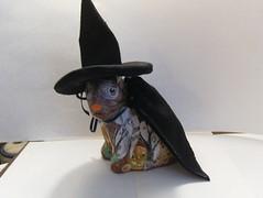 Bunny Witch (HauntedBetty) Tags: bunny halloween witch ghosts papiermache decoupage