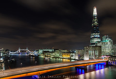 River View II. (Ollie Smalley Photography (OSP)) Tags: longexposure bridge sky orange motion blur london tower night clouds canon buildings reflections londonbridge river eos lights boat movement construction cityscape landmark cranes le riverbed reflective lighttrails fullframe riverthames offices clearsky cityoflondon osp capitalcity llens cloudage leadingline canon24105mm canon5dmarkii clouddrag olliesmalleyphotography
