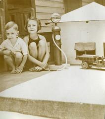 Gas Station (BKHagar *Kim*) Tags: old family truck vintage scans dad gas gasstation paula scanned auntpaula bkhagar