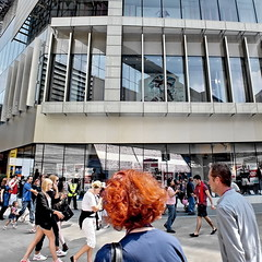 games goers (Harry Halibut) Tags: blue red people reflection london shopping hair centre august games pedestrians exit olympics visitors westfield biss allrightsreserved 2012 london londonbuildings londonarchitecture ytellow gingher startford imagesoflondon colourbysoftwarelaziness 2012 2012andrewpettigrew 20121208125289
