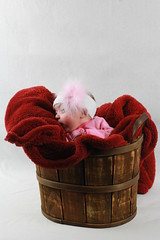 A small person in a basket (jimmyhu) Tags: baby basket protrait protraiture whitedrop