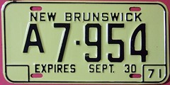 NEW BRUNSWICK 1971 ---HALF YEAR COMMERCIAL LICENSE PLATE (woody1778a) Tags: world auto canada cars car sign vintage edmonton photos tag woody plate tags licenseplate collection number photographs license princeedwardisland plates foreign pei numberplate licenseplates numberplates licenses cartag carplate carplates autotags cartags autotag foreigns pl8s worldplates worldplate foreignplates platetag