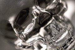 Crystal Skull (zielinskiCreative) Tags: abstract glass skull bottle crystal vodka crystalskull macromondays