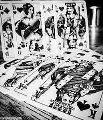 Cards No.1 (noahtiso18) Tags: blackandwhite bw mobilephone availablelight black dortmund weis iphone handy phonecamera schwarzundweis schwarz bianconero italianeography smartphone sw king dame cards karten carte heart herz passthetime monochrome flickrfriday