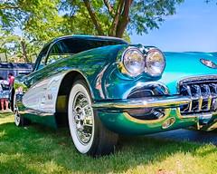 1958 Chevrolet Corvette (hz536n/George Thomas) Tags: 2016 cs5 canon canon5d chevrolet chevy corvette ef1740mmf4lusm flint hdr michigan sloanmuseum sloanmuseumautofair summer carshow copyright nik