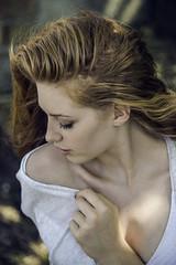 Enjoying loneliness (keltikee) Tags: blue woman mujer femme model modelo beauty beautiful belleza beaute redhair redhead red hair style pelirroja rojo shadows sombras skin piel peau lumiere light luz art arte