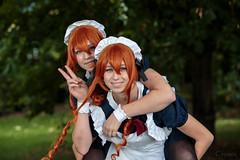 Happy maids (Crones) Tags: canon 6d canoneos6d czech czechrepublic praha prague canonspeedlite580exii canonspeedlite 580exii advik advik2016 anime cosplay people portrait