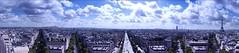 Panorama de l'Arc de Triomphe (Battistu) Tags: montparnasse sacrcur montmartre eiffle tour toureiffel elyses champs vacances holidays city ville vue panorama charlesdegaule inconnu soldat toile arcdetriomphe triomphe de arc france paris