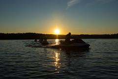 Jet ski group and sunset (VisitLakeland) Tags: vesijetti jet ski water lake jrvi kallavesi seikkailukuopio adventure summer seikkailu finland kuopio