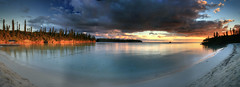 Sunrise at the Isle of Pines (hapulcu) Tags: iledespins ileofpines newcaledonia nouvellecaledonie southpacific beach dawn hotel meridien panorama resort sunrise