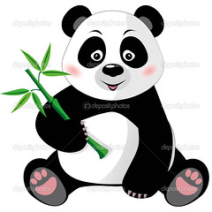 Sitting cute panda with bamboo isolated on white (brandmilaline) Tags: panda bear animal bamboo cartoon nature zoo isolated onepanda leaf cheerful pandacub childhood japan japanese plant tree wildlife wood china jungle mammal adorable branch sitting east oriental asian asia character clipart cute fun zoology illustration vegetarian design background puppy vector white traditional wild meal young black little tropical