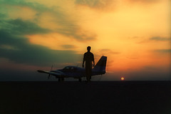 Top gun (solapi) Tags: airplane oriolribera solapi beautiful old pilot clouds sunset plane sabadell airport oriol ribera