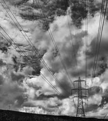 untitled (1 of 1)-25 (linda.butty) Tags: pylon sky skyline blackstone edge rochdale monochrome silverefex