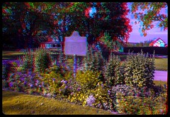 Memorial for the Chicora Incident of 1870 in Sault St. Marie 3-D ::: HDR/Raw Anaglyph Stereoscopy (Stereotron) Tags: saultstemarie tree plants indiansummer autumn fall north america canada province ontario quietearth anaglyph anaglyph3d redcyan redgreen optimized anaglyphic anabuilder 3d 3dphoto 3dstereo 3rddimension spatial stereo stereo3d stereophoto stereophotography stereoscopic stereoscopy stereotron threedimensional stereoview stereophotomaker stereophotograph 3dpicture 3dglasses 3dimage twin canon eos 550d yongnuo radio transmitter remote control synchron in synch kitlens 1855mm tonemapping hdr hdri raw history