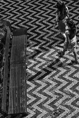 Simi Monastery (Speedy349) Tags: greece simi monastery blackwhite flooring bench pattern zigzag