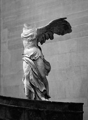 Winged Victory of Samothrace (tokyobogue) Tags: paris louvre france museedulouvre museum art gallery wingedvictoryofsamothrace sculpture greek greece marble goddess nike nikon d7100 nikond7100 blackandwhite blackwhite monochrome