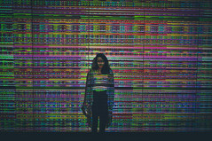 (Kevin Chon) Tags: portrait retrato girl urban colorful led light sp city exposio fiesp paulista