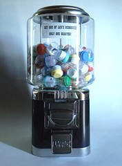Buy One Of My Memories! Only One Quarter! (LenCowgill) Tags: len cowgill art memories found objects gumball machine