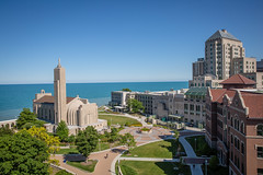 Loyola From Above (Loyola University Chicago) Tags: summer lsc aerials lakemichigan busshelter eastquad seasons studentlife mds madonnadellastrada cuneohall