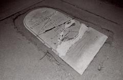 Exa 1C Spadra Cemetery 3 () Tags: vintage retro classic film camera losangeles california riverside history west coast architcture eastgerman ddr gdr exa dresden slr 35mm black white bw kodak tmax m42 abandoned cemetery