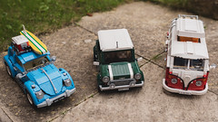 Lego Creator Vehicles (Harry_S) Tags: mini beetle camper van vw lego creator nikon d750 sigma 35mm 14 art