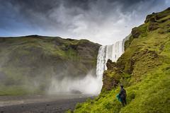Skgafoss (JoshyWindsor) Tags: iceland skgafoss landscape waterfall travel canonef1740mmf4l scenic moody nature skogar canoneos6d europe holiday leoniecollins