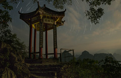 laozhai birdseye pavillion (ANOTHER DAY AT THE OFFICE) Tags: xingping yangshuo pavillion pagoda star trails architecture design detail view point birdseye guide photography tour north