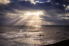Light Rays at Dunraven Bay (mattcfarr52) Tags: olympus landscape bridgend water light rays wales omdem10 dunravenbay ogmore clouds southwales southerndown sky coast sea lightrays
