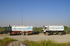 Pair of Mercedes water tankers (breedlux) Tags: tanker truck wagon lorry merc mercedes