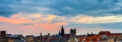 Between day and evening. (Sakuto) Tags: stack panorama highress carlszeiss carls zeiss 85mm view colors colorful city town trees roof church sky