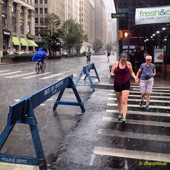 Laughter In The Rain (cmputrbluu) Tags: iphoneography iphone iphone4s instagramapp instagram nyc newyorkcity rain summerstreets