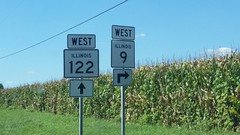 009-122w1 (paulthemapguy) Tags: illinois highway route sign 9 122