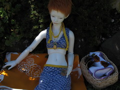Summer time (tarengil) Tags: bjd abjd doll asian ws dollmore zaoll luv white skin resin dress summer