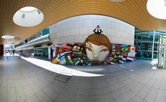 Aroport de Lisbonne - 07-06-2016 - 14h48 (Panoramas) Tags: aroport lisbonne aeroporto lisboa airport lisbon portugal panorama fresque fresco graffiti graf ptassembler multiblend perspective utopia63 oliveiros junior street art