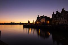 Sunrise - het Groothoofd - Dordrecht 2016 (Wilma v H- Back from Beara in Ireland! Behind!) Tags: groothoofddordrecht sunrise dawn crackofdawn zonsopgang oudemaasrivier canoneos60d tokinaatxprodxfordigitalslr1228mmf4asphericallens dordrecht landscape waterscapes bellevue longexposure