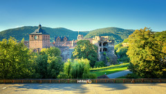 Heidelberg - Schloss (Castle) (Andy Brandl (PhotonMix.com)) Tags: hdr photonmix processing nikon d800 landscape castle schlossheidelberg sunny clearsky summer trees schlosspark ruins germany heidelberg tranquilscene