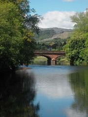 Strath/SP/Red Bridge River Teith/Pauline Deas/20140419 (Pauline Deas) Tags: callander trossachs river teith bridge red road scenery scottish scotland water