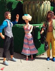 Dancing on the job (trinacolada world) Tags: dolls diorama toys ken barbie