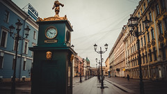 sfs455af (olegmescheryakov) Tags: sky russia city sunset winter street cold travel blue night sun light clouds europe house tower old rain urban architecture cityscape summer building beautiful green town clock beaty historic saint petersburg