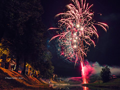 Fireworks (Filippo B.) Tags: 500px sagra fireworks night light lights long exposure italy river water festival corbolone festa fuochi artificiali artificio facebook twitter flickr fiera