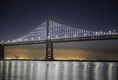 Bay Bridge at Dawn (dcnelson1898) Tags: sanfrancisco sanfranciscobay california embarcadero ferrybuilding waterfront downtown dawn longexposure skyline nikond750