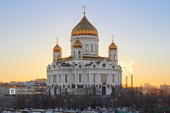 Cathedral of Christ the Saviour (Max Ryazanov) Tags: moscow russia winter sunset