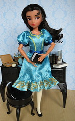 Isabel, Elena's sister (Foxy Belle) Tags: doll disney elena avalon little sister isabel isabelle blue dress poseable 16 scale brunette brown eyes jc penny
