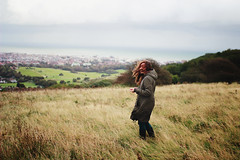 (Anastasia Autumn) Tags: uk sea eastbourne beachyhead flyinghair