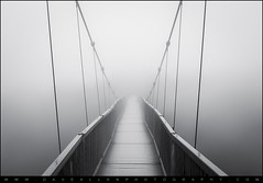 Bridge to Nowhere - Heavy Fog at Grandfather Mountain (Dave Allen Photography) Tags: bridge blue blackandwhite bw white mountain black fog landscape photography nc scary nikon path fineart north grandfather foggy northcarolina creepy spooky ridge parkway western unknown carolina appalachian minimalism heavy vanishing boone appalachia minimalist thick blueridgeparkway daveallen fineartphotography d800 wnc grandfathermountain 2470mm mygearandme mygearandmepremium mygearandmebronze mygearandmesilver mygearandmegold mygearandmeplatinum mygearandmediamond