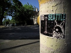 ROOTS (Photocoyote) Tags: seattle usa streetart sticker broadway firehydrant pacificnorthwest spaceneedle slap washingtonstate capitolhill stayalive theemeraldcity theevergreenstate baconmansion photocoyote