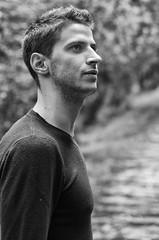 Luca (MatteoOrfini) Tags: boy portrait white black guy look eyes woods occhi sguardo bianco ritratto nero bosco ragazzo